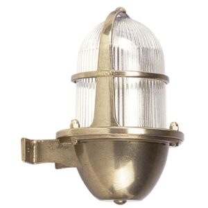 Wall Light in Brass, Weatherproof. Decorative Outdoor Lights