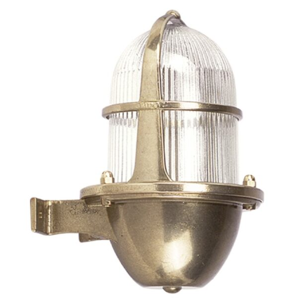 Wall Light in Brass, Weatherproof. Decorative Outdoor Lights