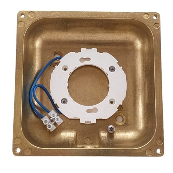 Wall light recessed or surface. Made of brass