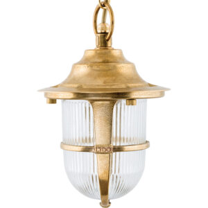 Single Hanging Light In Brass. Traditional Brass Pendant Light