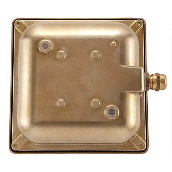 Wall light recessed or surface. Made of brass. ART BR4622