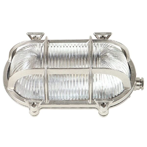 Oval bulkhead light. ART BR400 Nickel Mat