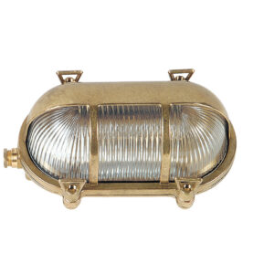 Outdoor Walkway Lights in Brass.