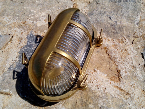 Outdoor Walkway Lights in Brass