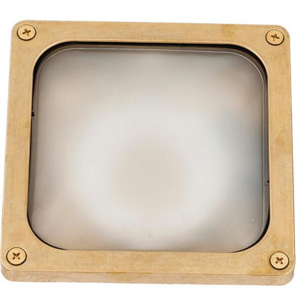 Wall Light Recessed or Surface. Ceiling and Wall Luminary Made in Brass