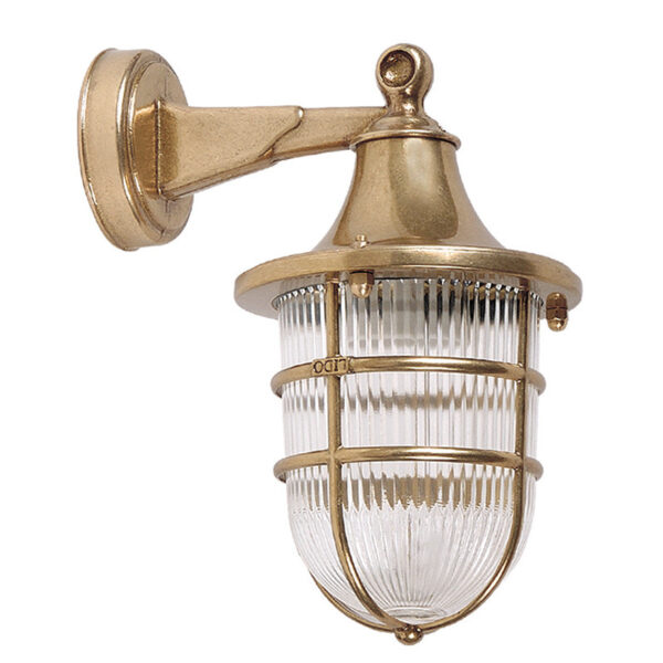 Exterior Nautical Style Wall Light in Brass.