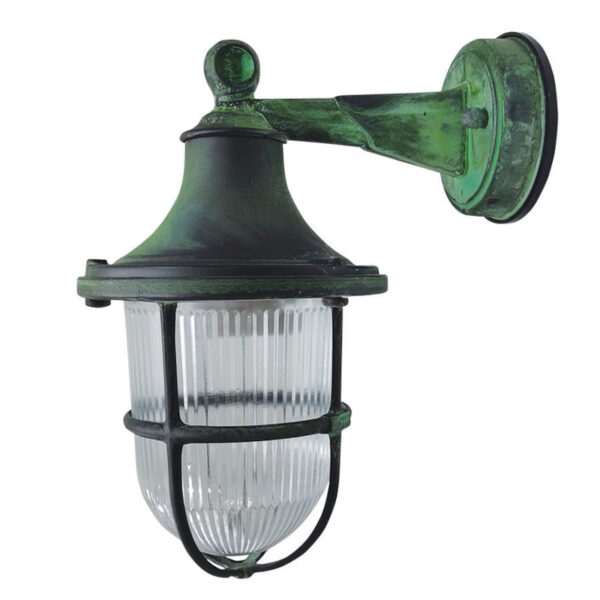 Outdoor Lighting for Coastal Locations. Made of Brass in Verdigris finish.