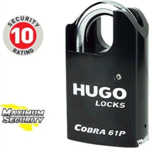 Hardened steel padlock Cobra 61P with security cylinder GR 4.5S