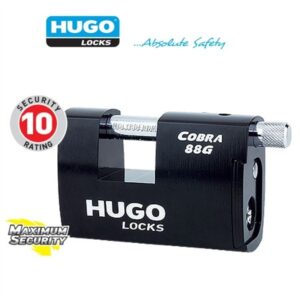 Padlocks Cobra 88G Hardened steel shutter lock with security cylinder GR 4,5S